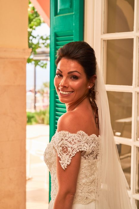 wedding in Zakynthos at Balcony Boutique hotel - Bride